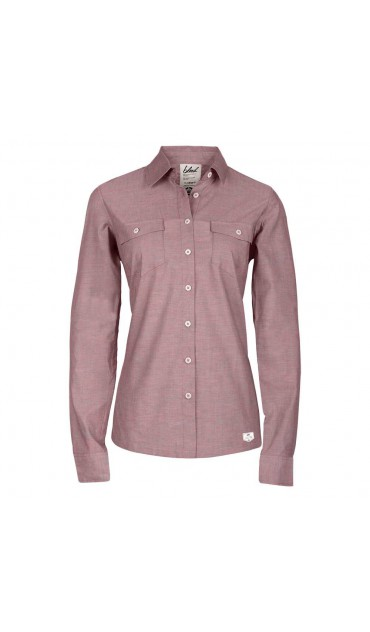 ladies oxford shirt (red)
