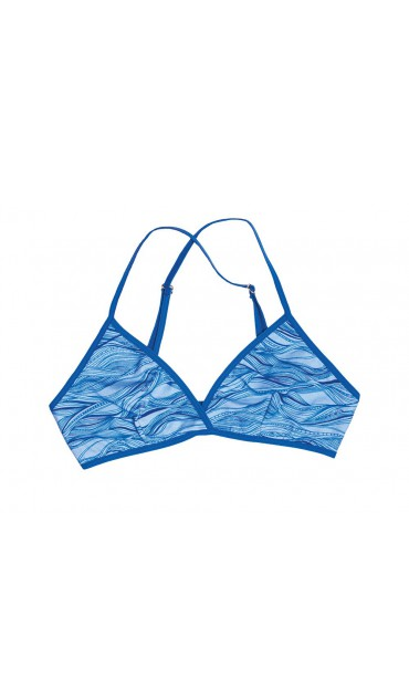 Triangle Bra Fine Frida - Blue Waves
