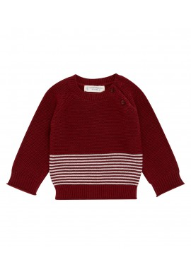 VICTOR / VICTOR Baby Sweater bordeaux
