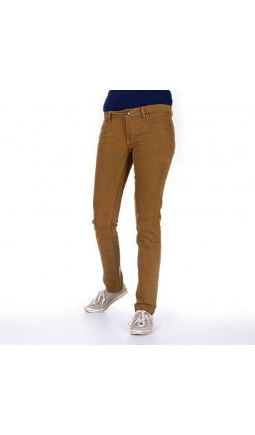 "vaqueros ""bleed slim jeans ladies - color mostaza"