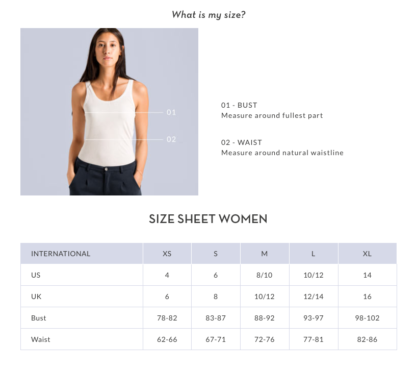 Size Guide woman